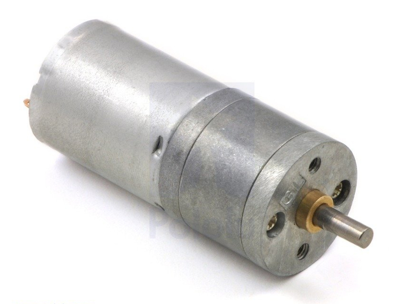 Vista frontal, Motorreductor metalico 12V HP 100 RPM 99:1 25D x 54L mm
