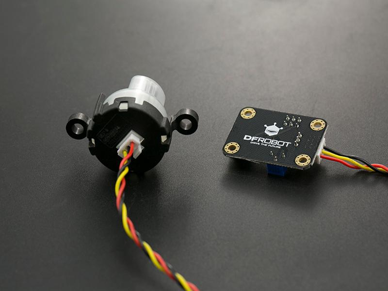Vista posterior, Sensor análogo de turbidez de agua -
