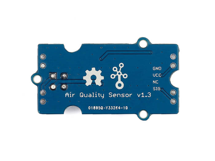 Vista posterior, Sensor de calidad de aire v1.3 - Grove
