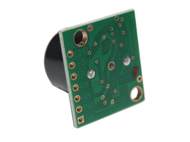 Vista posterior, Sensor LV MaxSonar EZ2