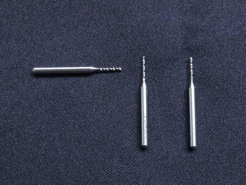 Vista frontal, Broca de perforación de 1.1mm