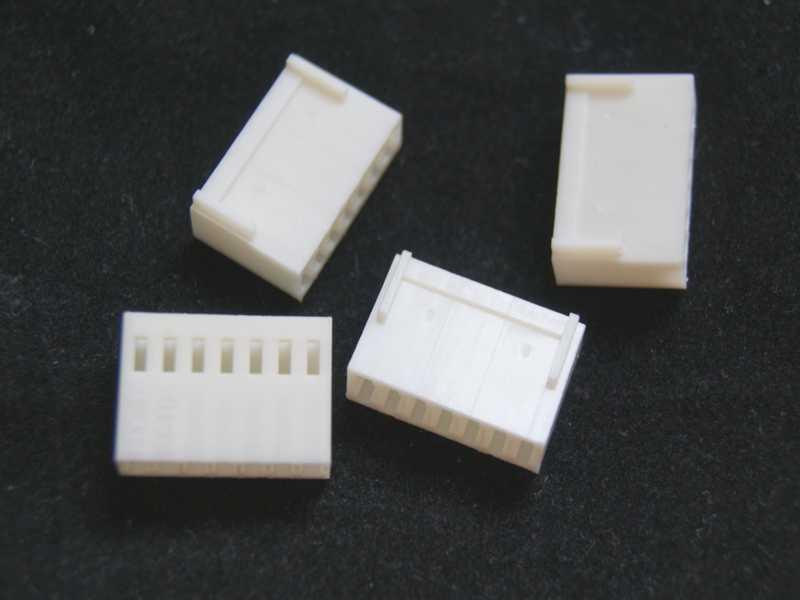 Vista grupal. Conector molex hembra 7CON