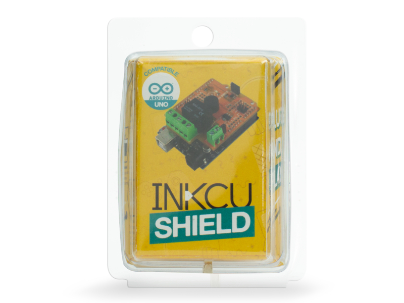 Vista frontal, InkCu Shield