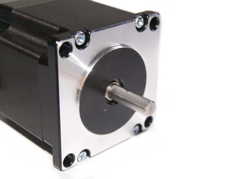 Vista lateral. Motor a pasos NEMA 23 23HS5628 12.6 kg/cm eje tipo D
