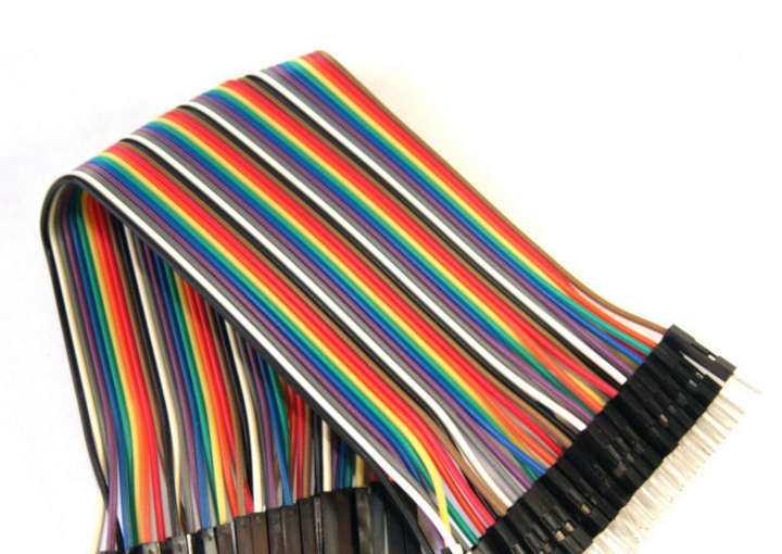 Cables dupont macho -macho 40 unidades  30 cm