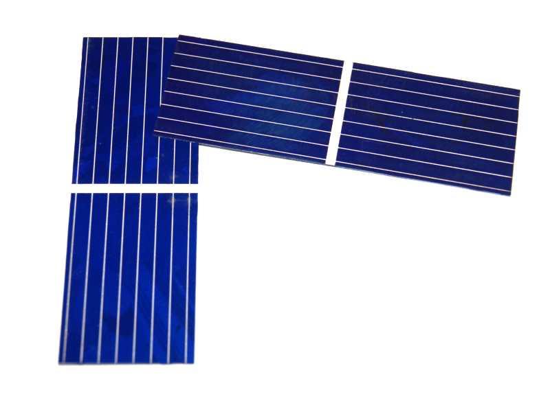 Celda solar policristalina 0.5V