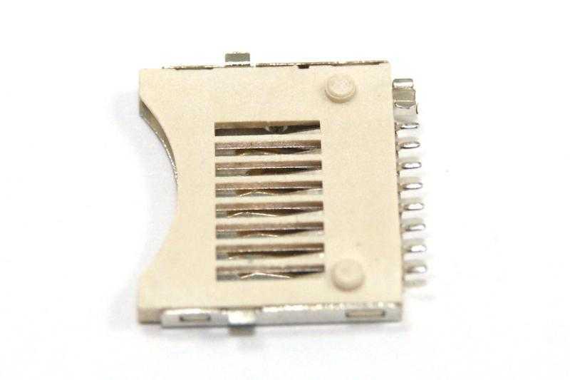 Vista posterior. Conector SMD para micro SD