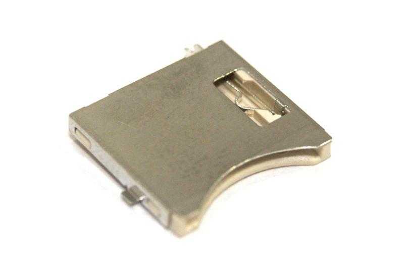 Vista superior. Conector SMD para micro SD