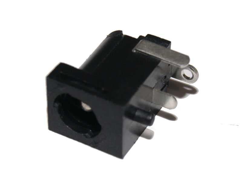 Vista frontal, Conector jack hembra 2.1 mm