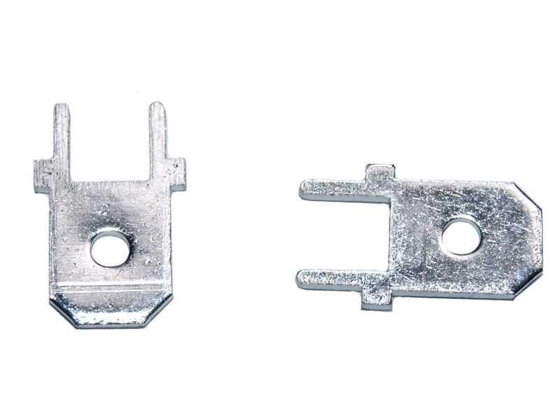 Vista frontal. Conector terminal macho para PCB