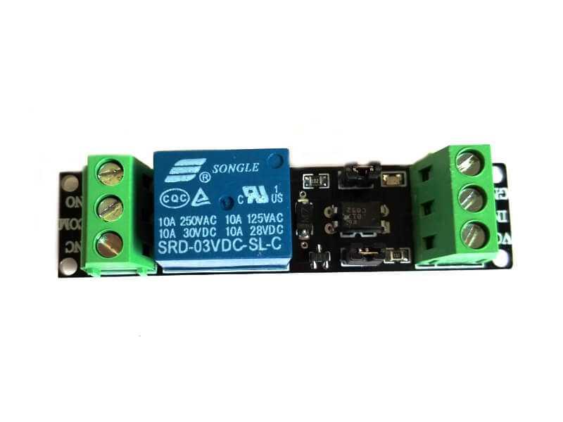 Módulo relevador 1CH control de aislamiento 3V