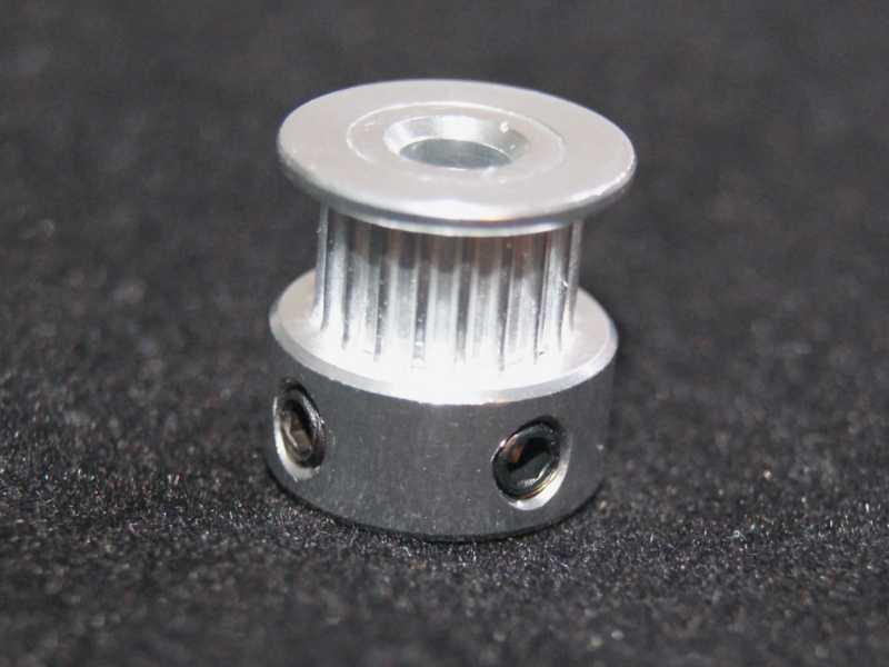 Vista frontal. Compresor de eje 20 dientes para Motor a Pasos