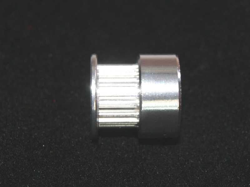 Vista lateral. Compresor de eje 20 dientes para Motor a Pasos