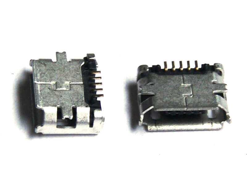 Conector microUSB SMD de montaje superficial