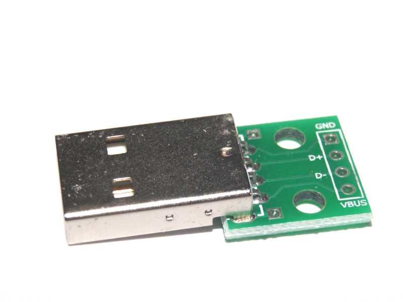 Convertidor USB macho a DIP