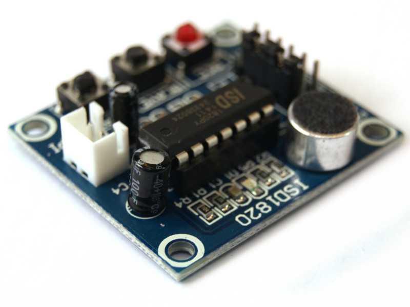 Grabador de audio voz ISD1820 con microfono y bocina