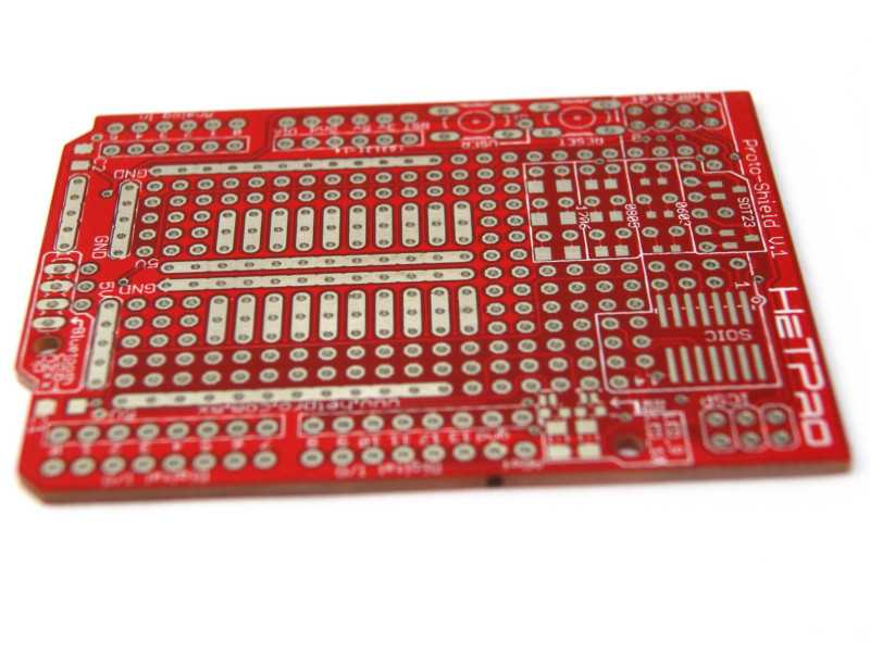 ProtoShield para Arduino UNO R3 sin componentes