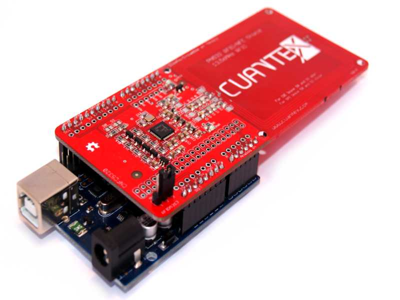 Vista frontal. RFID Shield PN532 NFC