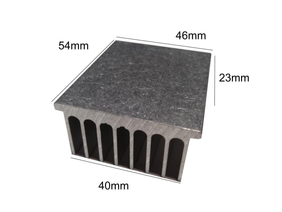 Disipador de Aluminio 46mm x 54mm x 23mm