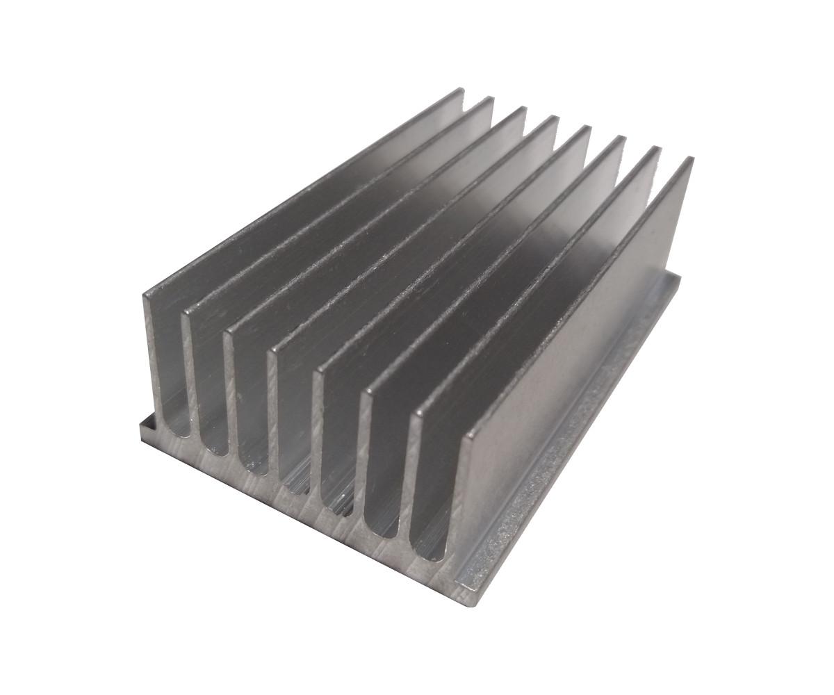 Disipador de Aluminio 46mm x 74mm x 23mm
