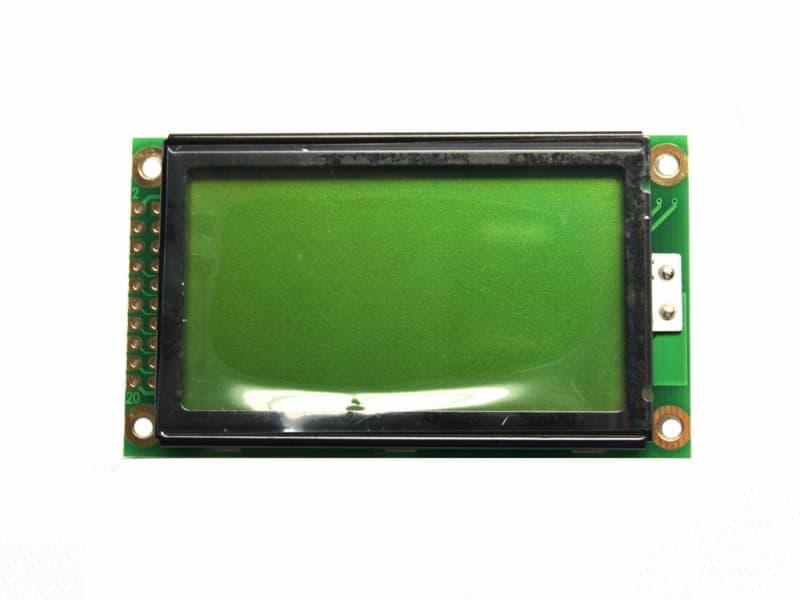 Vista frontal, Pantalla LCD 128x64 KS0108
