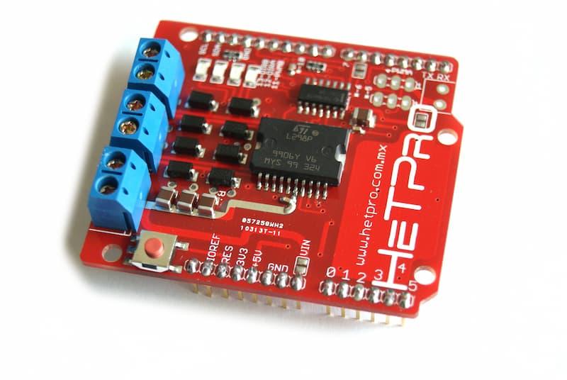 Shield controlador de motores L298D