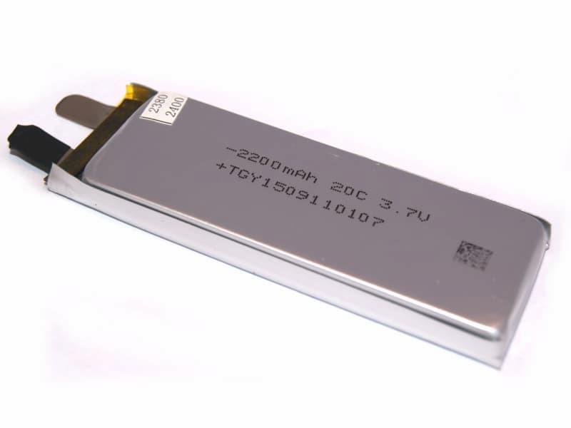 Batería LiPo 1S 3.7V 2200 mAh 20C