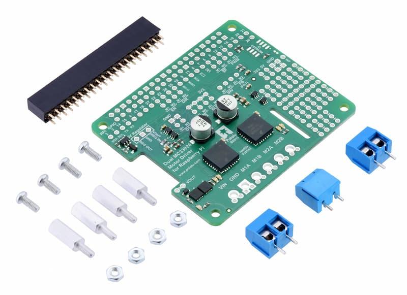 Controlador dual Pololu MC33926 para Raspberry Pi