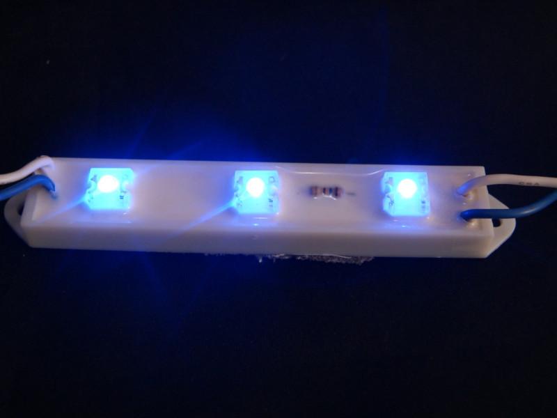 Tira de 3 LEDs Azul