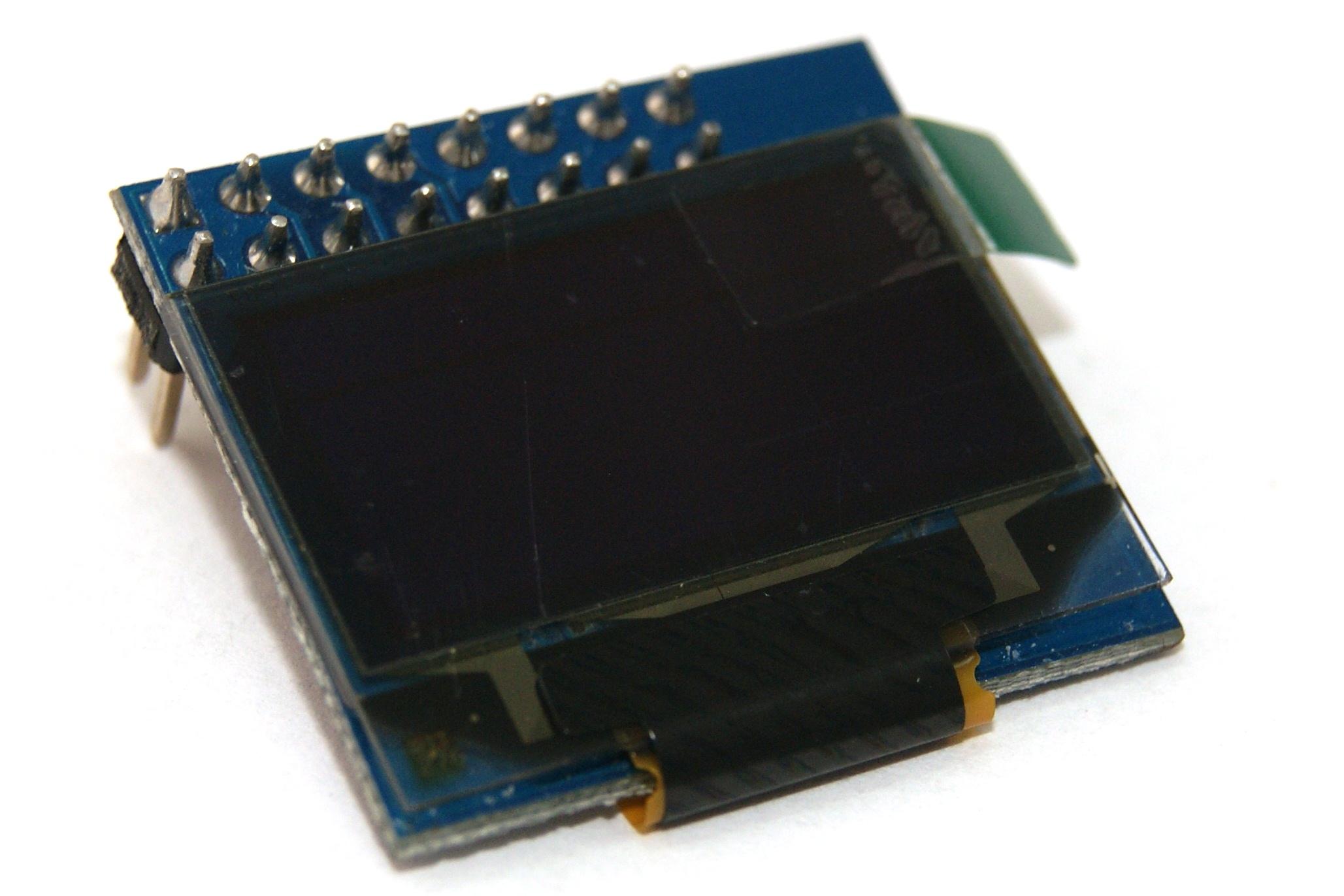 "Pantalla OLED LCD Amarillo-Azul 128x64 0.96"" I2C SPI"
