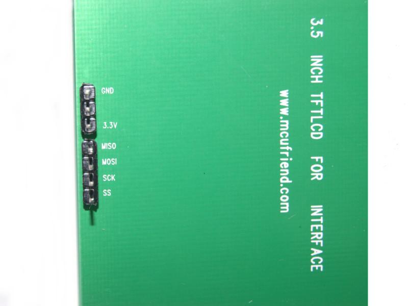 """LCD 3.3V 3.5"""" verde"""