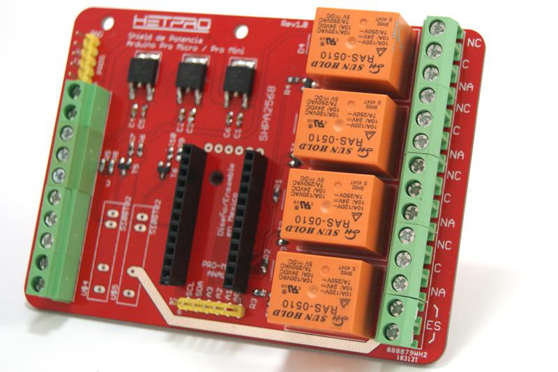 Tarjeta de potencia para Arduino Pro Micro sin SSR
