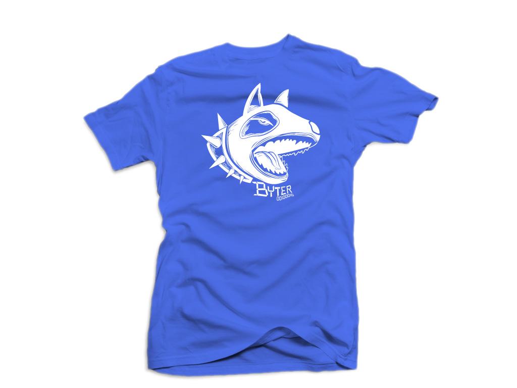 PLayera azul con perro
