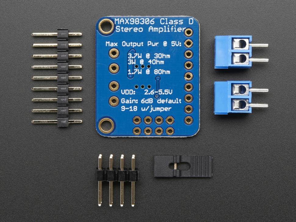 Estéreo 3.7W Amplificador  de audio Clase D - MAX98306