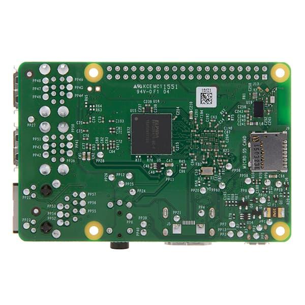Raspberry Pi-3 parte trasera