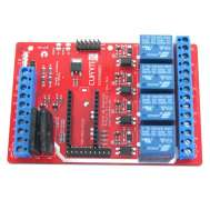Vista frontal. Shield de Potencia para Arduino Pro-micro-mini REV2.0