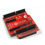 Vista frontal RaspDuino shield Raspberry