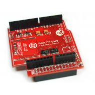 Vista frontal RaspDuino shield Raspberry sin ADC
